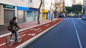 El carril bici enAlmería