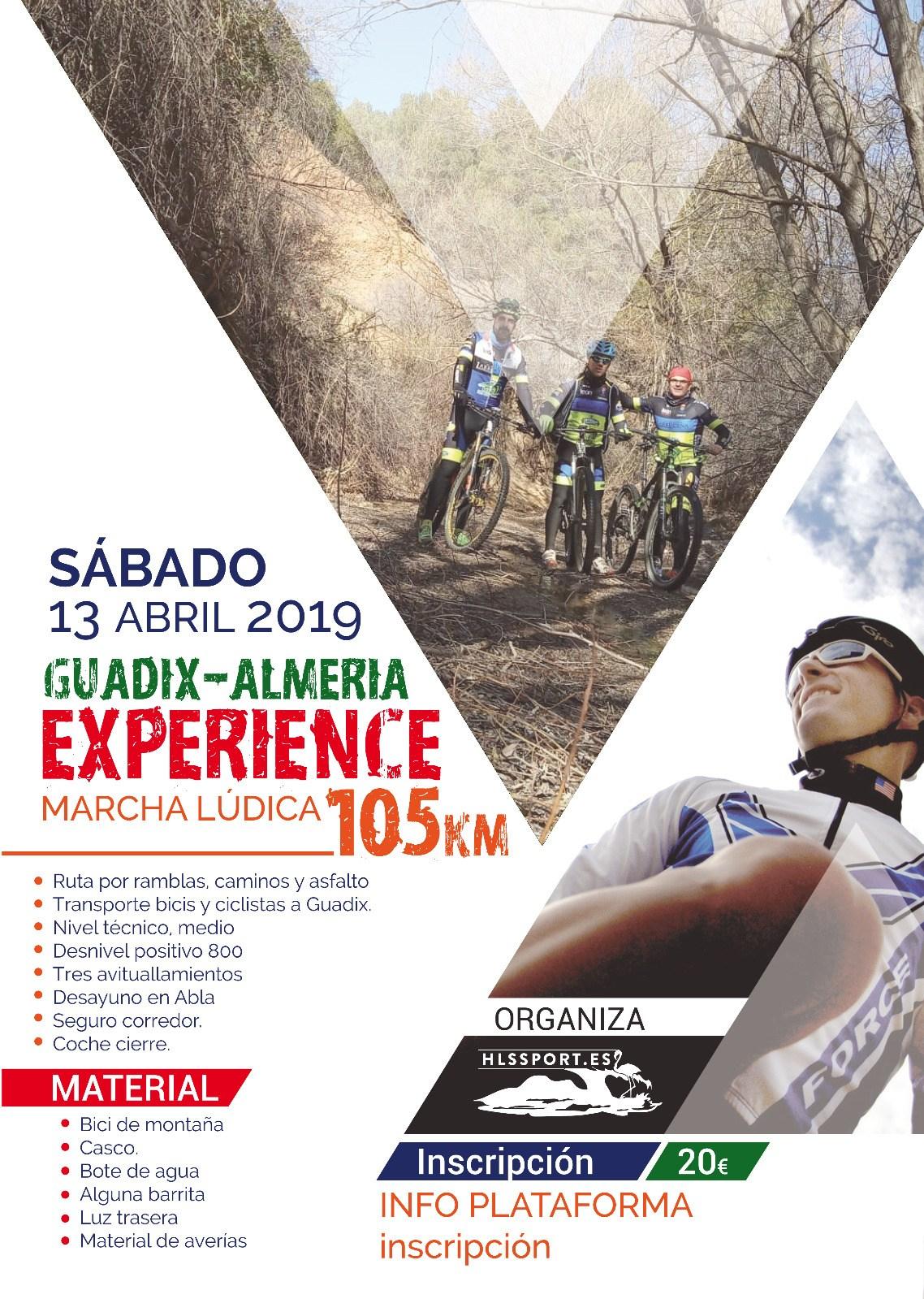 GUADIX-ALMERÍA EXPERIENCE en BTT 105KM