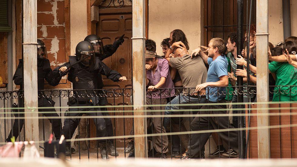 """""""Antidisturbios"""" y """"Patria"""""""